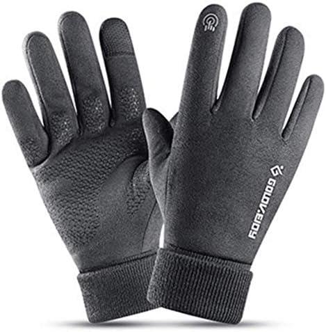 男性と女性のための冬の暖かいタッチスクリーングローブ-ノンスリップグリップ-弾性カフス-暖かい裏地-ストレッチ素材-屋外スポーツランニングやサイクリングのために、手を暖かく保つために
