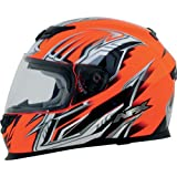AFX FX-120 Graphic Full-Face Motorcycle Helmet - Multi Safety Orange Small - 0101-6468 PS