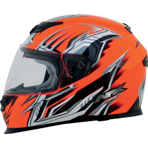 AFX FX-120 Graphics Air Bladder Helmet , Helmet Type: Full-face Helmets, Helmet Category: Street, Distinct Name: Multi Safety Orange, Primary Color: Orange, Size: Sm, Gender: Mens/Unisex 0101-6468