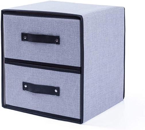 Cqiutian Caja de Almacenamiento de Ropa Caja de Almacenamiento de Tela Lavable Lavable Cajón Sujetador Ropa Interior Caja de Almacenamiento de algodón, Gris, 31cm * 30.5cm * 31.5cm: Amazon.es: Hogar
