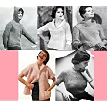 Patrons de tricot chic vintage pour chandails femmes (French Edition)