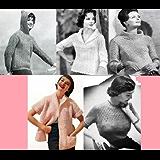Patrons de tricot chic vintage pour chandails femmes