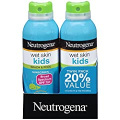 Keeping kids protected against sun damage at the beach or the pool is easy with Neutrogena Wet Skin Kids Sunscreen Spray with Broad Spectrum SPF 70+. Made for active kids, this convenient water-resistant sunscreen spray-on formula is specially design...