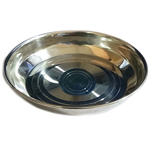 Stainless Steel Round Dinner Plate / Thali Tableware Dinnerware, Food Snacks Plate, Silver Color Size 11 X 11 Inch (Hall Round Serving Plate)