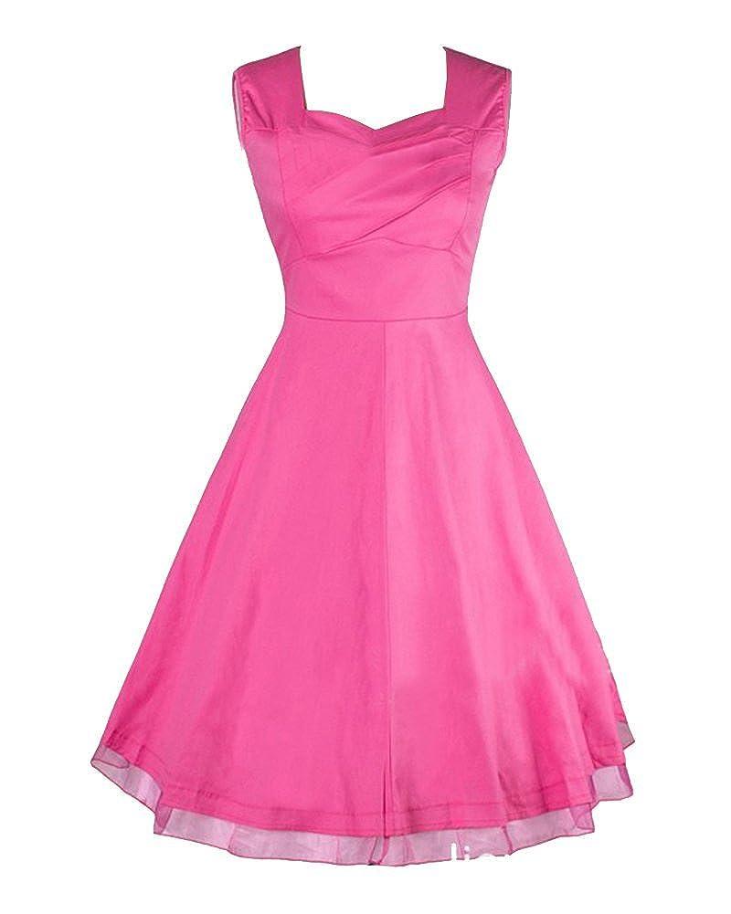 Moollyfox Women's 1950 Elegant Vintage Style Printing Dress