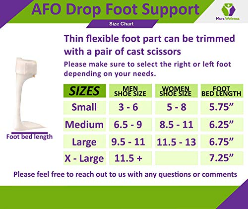 Ankle Foot Orthosis Support - AFO - Drop Foot Support Splint Right, Medium by MARS WELLNESS (Image #3)