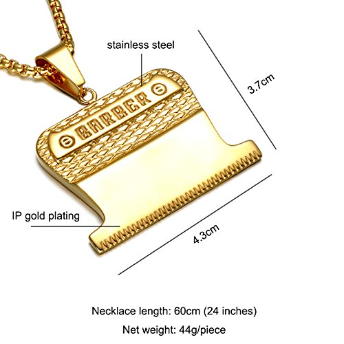 d1ab18e6216cc SMITH CHU Fashion Hair Trimming Barber Clipper Pendant - Men Barbershop  Barber Turn Light Hip Hop Street Necklace Pendant - Come with Barber  Stylist ...