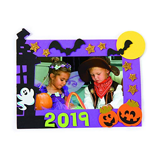 Halloween Picture Frame Craft Kits - 12 Pack (5x7 Purple)