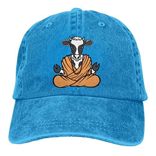 (Yuan Kun Holy Cow Unisex Washed Adjustable Fashion Cowboy Hat Denim Baseball Caps)