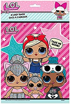 LOL Surprise Dolls Birthday Party Favor Set for 16 Guests - Includes Goody Bags, Filler Loot (Tattoos, Stickers, Notepads, Glasses, Activity Pads) and ...