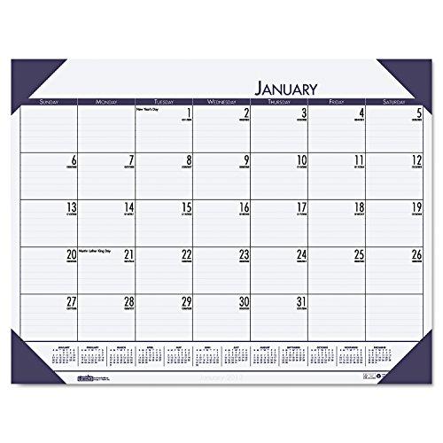 House of Doolittle 12440 EcoTones Ocean Blue Monthly Desk Pad Calendar, 22 x 17, 2015 (Ecotones Desk Pad Calendar Monthly)