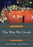 The Way We Lived 7th Edition