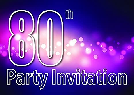 Amazon Com 10x 80th Theme Birthday Party Invitations