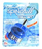 SpinChill ChillBit Drink Chiller - Chill Drinks With Your Drill | Cool Cans, Beer, and Wine Bottles in Less Than Minute With the Chill Bit | Perfect for a Cool Drink on a Hot Day (Blue)