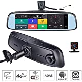 ShiZhen 8 inch 4G Touch IPS Special Car Dash Cam Rear View Reversing Mirror GPS Bluetooth WiFi Android 5.1 Dual Lens FHD 1080P