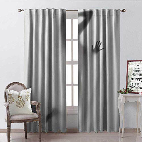 - Hengshu Lady Silhouette Shadow Thermal Insulating Blackout Curtain Blackout Draperies for Bedroom W84 x L96