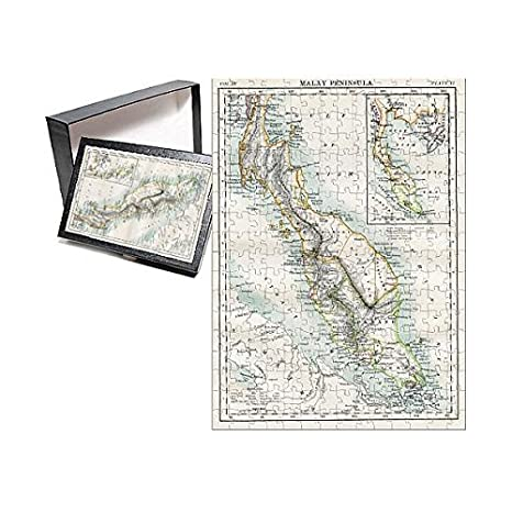 Amazon.com: Media Storehouse 252 Piece Puzzle of Malay Peninsula map ...