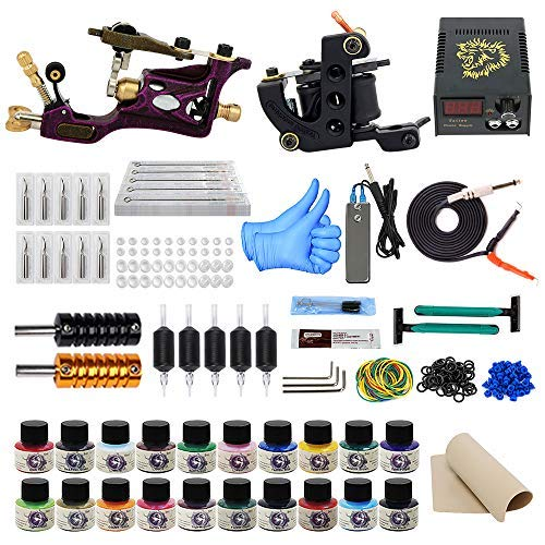Amazon.com: ITATOO Rotary Tattoo Kit for Beginners Tattoo Power ...