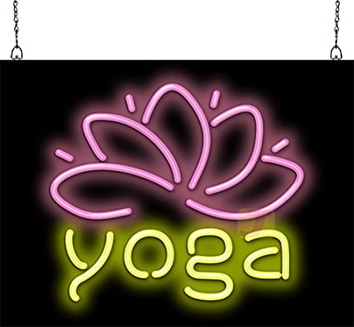 - Jantec Sign Group Yoga with Lotus Flower Neon Sign