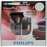 Philips H11 VisionPlus Replacement Bulb, (Pack of 2)