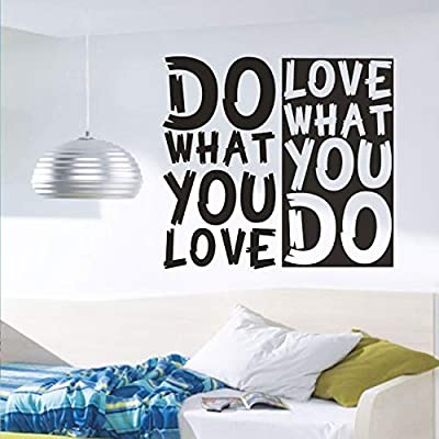 """BEISHIDA Do What You Love Wall Decal Sticker - Love What You Do Art Quote Wall Decals,Inspirational Wall Art Decals (16.5"""" H x 17.8"""" L) for Living Room Home Decorations"""
