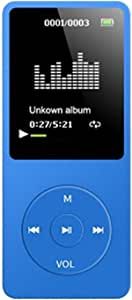 Blesiya Portable Sport HiFi MP3 Speaker Player USB Rechargeble Digital LED LCD - Blue, 9x4x1CM