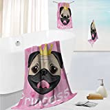 SCOCICI1588 fast dry bath towel setPrincess Dressing Room in PalaceLuxurious with Chandelier Fireplace Lightweight High Absorbency 19.7''x19.7''-13.8''x27.6''-31.5''x63''