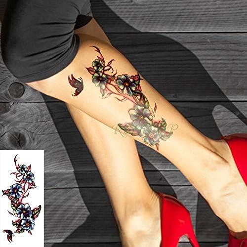 Impermeable Tatuaje Temporal Myosotis sylvatica Flor Tatuajes ...