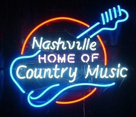 Urby™ 24''x20'' Nashville Home of Country Music Neon Light Sign Beer Bar Handicraft SP82