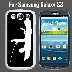 Bass Fishing Fisherman Custom Case/ Cover/Skin *NEW* Case for Samsung Galaxy S3 - White - Plastic Case (Ships from CA) Custom Protective Case , Design Case-ATT Verizon T-mobile Sprint ,Friendly Packaging - Slim Case
