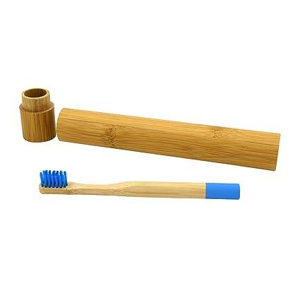 YeahiBaby Cepillo de Dientes de Bambú Natural Respetuoso del Medio Ambiente de Madera Biodegradable con Manija