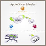 Apple Slicer Divider With Wide Grip Handles - Bonus Rotary Peeler Included