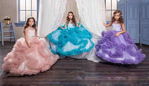 Hochzeitskleid Lange Kinder Kleider Blumenmädchen Elfenbein Mingxuerong Mädchen ZBxqZd