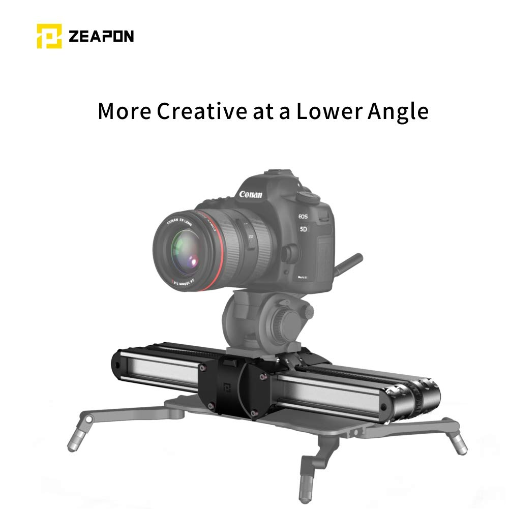 ZEAPON Micro 2 Camera Slider Rail with Liquid Damping Handle for All DSLR Mirrorless Camera 13 inch Rail Length 21 inch Travel Distance 17.6 lbs Payload by ZEAPON