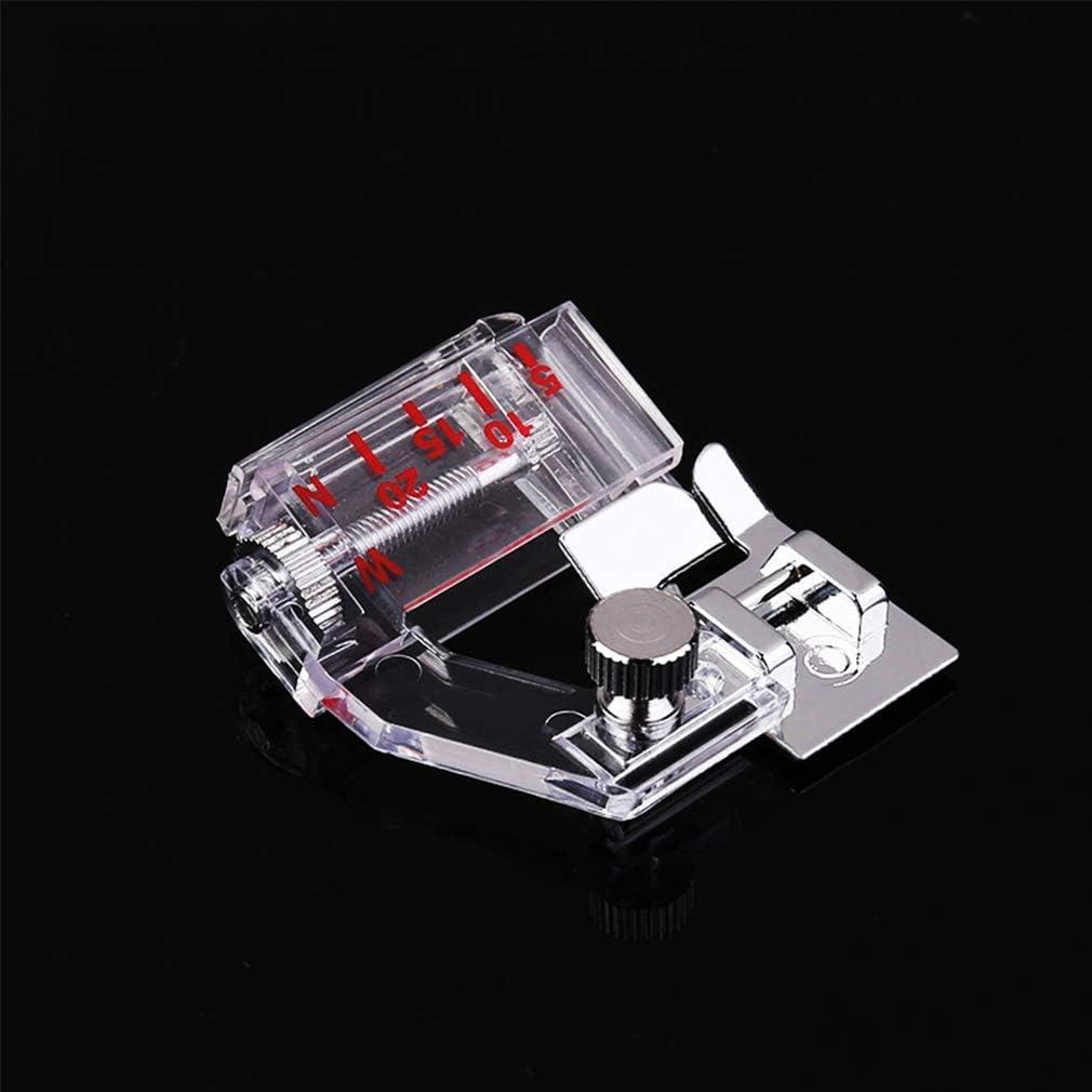 WDXLT Domésticas Accesoria Prensatelas,Multi-función Máquina De Coser Reemplazar Kit Prensatelas,Ancho Ajustable Organización Fácil Claro 4.2x4.2cm (2x2inch)