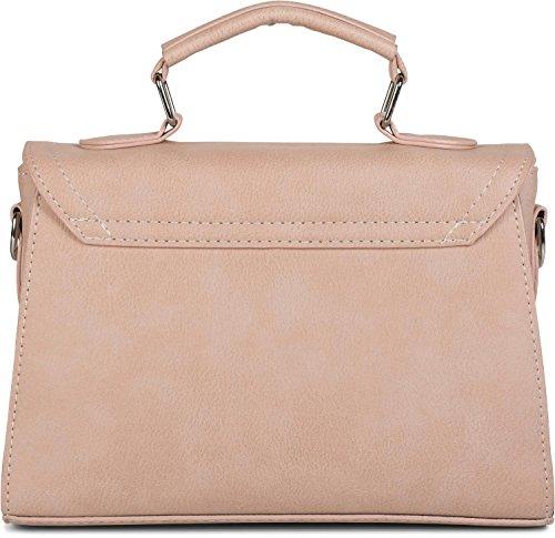 Gris Rose 02012225 le avec styleBREAKER Sac femmes rabat sac cartable couleur grande main sacoche sur étoile à nRZqC