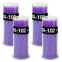Rbenxia 400pcs Micro Applicators Disposable Brushes for Eyelash Extensions Dental Oral Using