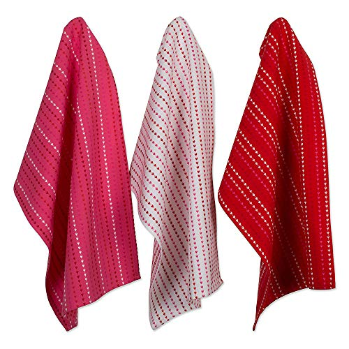 DII CAMZ10629 Dishcloth & Dishtowel Set (Set of 6), Dishtowel & Dishcloth, Hearts Dobby ()