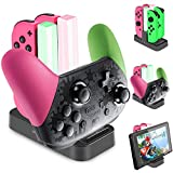 Diyife Controller Charger for Nintendo Switch,Pro Controller Switch Console [Upgraded Version] 5 in 1 Joy-con Charging Dock Charging Station for Switch with LED Indicator Type C Charging Cable