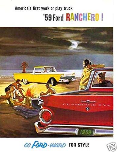 (1959 FORD RANCHERO FULL COLOR DEALERHIP SALES BROCHURE - Includes All Ranchero's - ADVERTISMENT - LITERATURE 59)