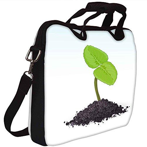 Snoogg spriessen Vector Gedruckt Notebook-Tasche mit Schultergurt 13 bis 13,6 Zoll