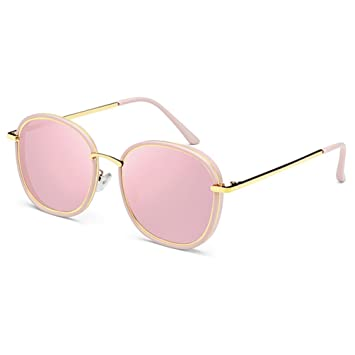 Espejo solar Gafas de Sol de Mujer ZQ 2018 Gafas de Sol Rosa ...