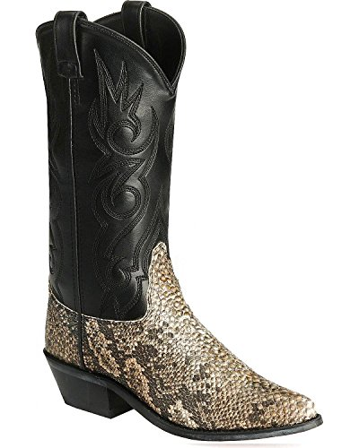 Old West Men's Snake Printed Cowboy Boot Natural 7.5 D(M) (Printed Snake)