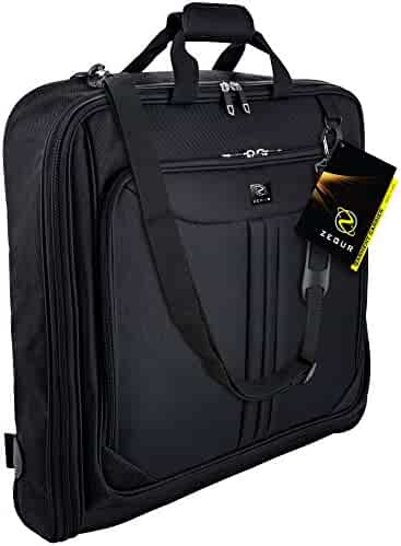 ZEGUR Suit Carry On Garment Bag for Travel & Business Trips With Shoulder Strap