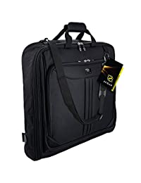 SUPER SPECIAL Zegur (TM) HIGH QUALITY GARMENT BAG Business Folding Suit 40 Inch Carry On Case - Made From BEST DURABLE & WATERPROOF Cordura Material - With ADJUSTABLE Shoulder Strap - 3 Suits and Dress Hanging Luggage for Travel - For Women & Men - 100% Satisfaction Guaranteed LIFETIME MONEY BACK WARRANTY - LIMITED TIME LOW PRICE OFFER - Enhance Your Travel Experience Now!