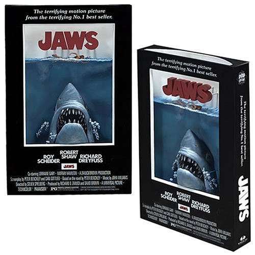 3 D Movie Posters - McFarlane Toys 3D Movie Poster - JAWS