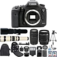 Canon EOS 7D Mark II 20.2MP CMOS Digital SLR Camera with Canon EF-S 18-55mm IS Lens + Canon 75-300mm Zoom Lens + 500mm Preset Telephoto Lens + 650-1300mm Zoom Lens + 2 pc Commander 32GB Memory Cards Review Review Image