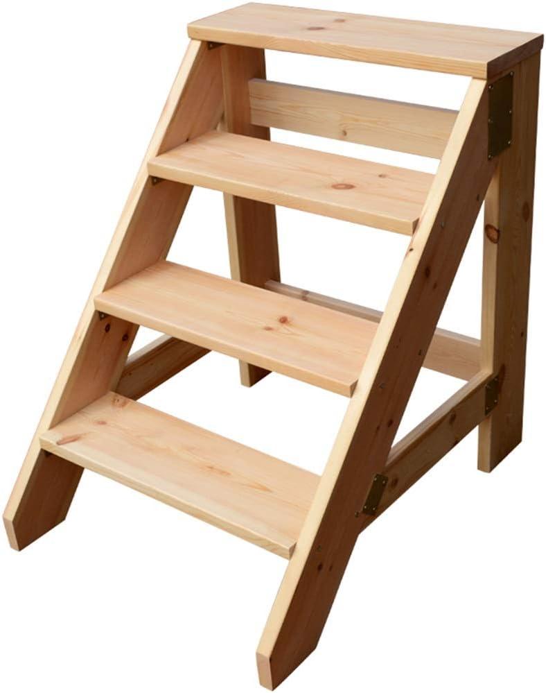 Taburete De Madera Maciza - Escalera De Mesa Multifunción Escalera De Escalera Para El Hogar Escalera Ascendente Escalera Larga De Engrosamiento Escaleras De Madera: Amazon.es: Bricolaje y herramientas
