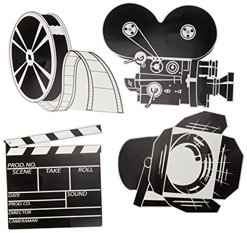 Pkgd Movie Set Cutouts Party Accessory (1 count) (4/Pkg)