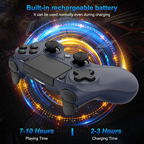 Medvoe Wireless Game Controller for PS4, Built-in Speaker/Gyro/Motor Joystick Remote Gamepad for Playstation 4/Slim/Pro Console - Midnight Blue